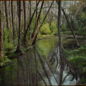 Řeka v lese | 48x40cm