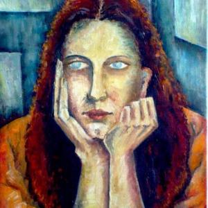 Dívka Modigliani | 50x75cm