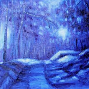 Večer v lese | 60x45cm