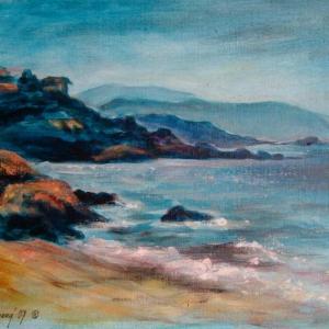 Korsika pláž 1 | 50x40, akryl