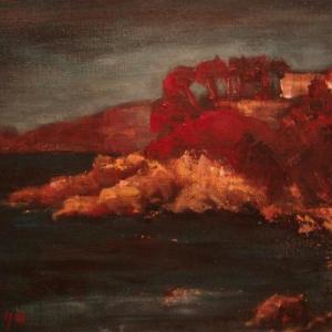 Korsika pláž 2 | 55x40, akryl