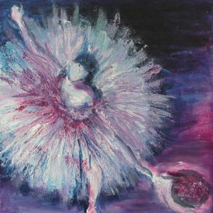 Baletka | 25x30, akryl
