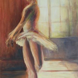 Tanečnice I. | 55x85, akryl, plátno