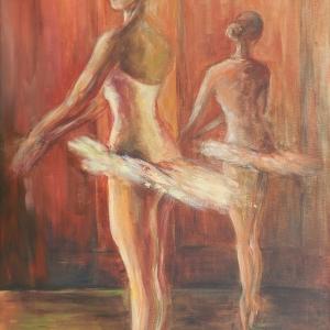 Tanečnice II. | 60x85, akryl, plátno