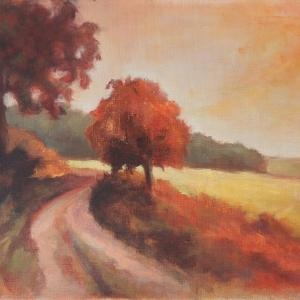 Cestou | 50x70, akryl, plátno