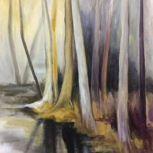 Břeh | 105x80, akryl, plátno