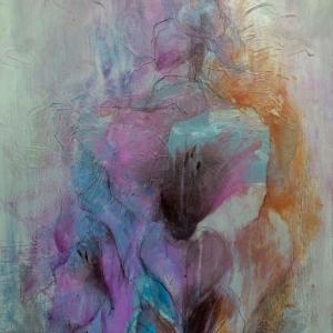 Gladioly | 50x70, akryl, plátno