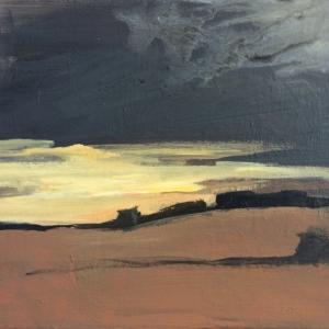 Večerní Strážovická krajina | 40x30, akryl, plátno