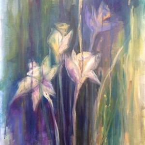 Narcisy | 50x70, akryl, plátno