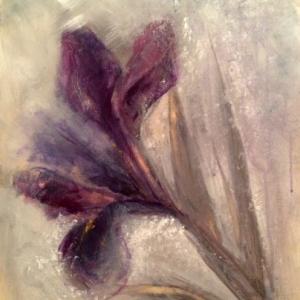 Květ | 30x40, akryl, deska