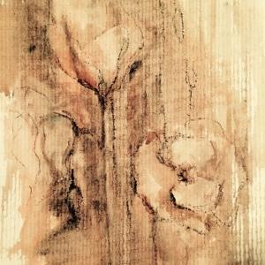 Makové květy | 30x20, akryl, papír