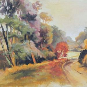 Podzim v Teplicích nad Bečvou | 95x75cm , akryl