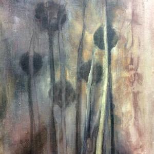 Trávy | 50x70, akryl, plátno