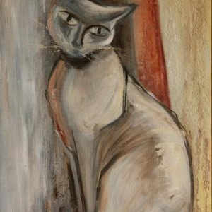 Kočka | 50x80cm