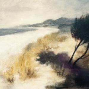 Pláž | 120x95, akryl, plátno
