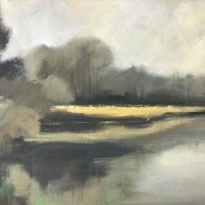 U rybníka, Strážovice | 70x50, akryl, plátno